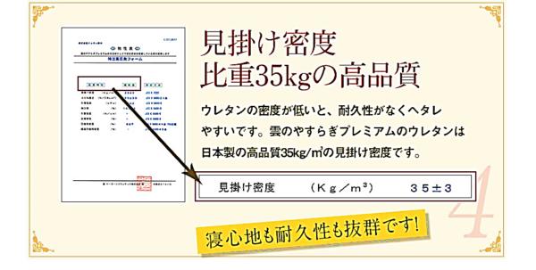 耐久性 見掛け密度が高い 日本製 高品質 寝心地バツグン