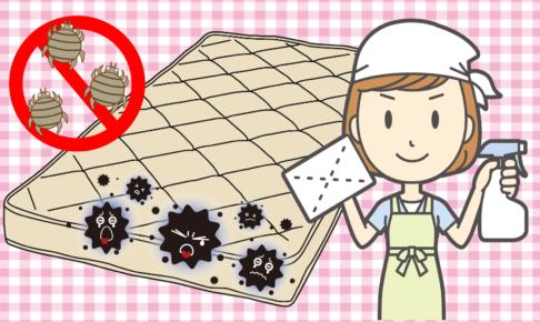 マットレスの手入れ 清潔に保つ 防ダニ カビ対策 汚れ対策