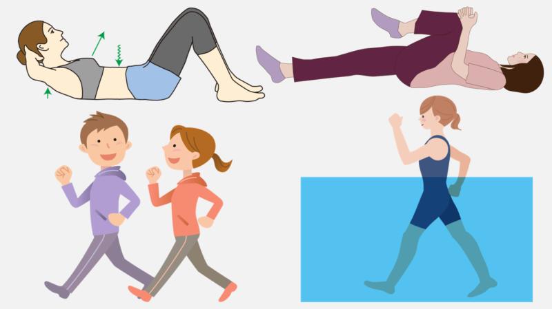 腰への負担が少ない 全身運動 ストレッチ ウオーキング 水中運動