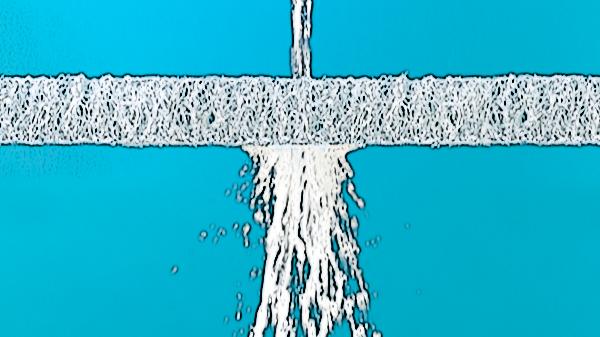 マットレスをまるごと、内部のエアファイバーまでも水洗いできる