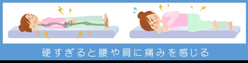 硬すぎる マットレス 腰や肩に負担 痛みを感じる 不要な寝返り